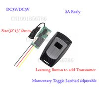 Wholesale Mini Remote Receiver Transmitter - Digital Radio Remote Control Switch Mini Size DC5V Transmitter Receiver System Normally Open Comon Normally Close Learning Code