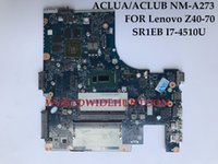 Wholesale Laptop S Motherboard - High quality laptop motherboard for Lenovo Z40-70 ACLUA ACLUB NM-A273 SR1EB I7-4510U DDR3L 100% Fully Tested