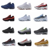 Wholesale Maxs Shoes - 2017 new cheap Mens Athletic shoes MAXs 95 Essential 20th Anniversary Running Sneakers Brand Black Sport Run Shoes 40-45 fast Shipping
