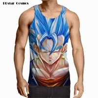 Wholesale Ladies Green Vest Tops Wholesale - Wholesale- Tops Goku 2017 Men Lady Dragon Ball Z Tank Tops Goku Gohan Vest Yamcha Vegeta Summer Jersey 3D Tops Fashion Clothing Tees