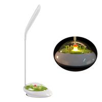ingrosso erba della lampada-Lampada da tavolo a LED Verde erba Micro Scenery Ricarica USB Touch Dimming Luce notturna Morbida regolazione multi angolo Leggi la lampada da tavolo