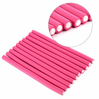 Wholesale Flexi Curlers - 30 Pcs  Set Flexi Rods Soft Foam Bendy Hair Roller Plastic Hair Curling Magic Diy Styling Sticks Tools Hair Curler For Hairstyle