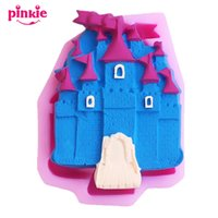 Wholesale Castle Mold - The castle modelling silicone Fondant Mold,Resin Clay Fondant Cake Handmade Sugar Mould Chocolate Silicone Moulds