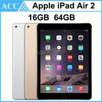 Wholesale Apple Ipad 64gb - Refurbished iPad Air 2 iPad6 Wifi 9.7 inch 16GB 64GB A8X Chip Gold Silver Space Gray Free DHL