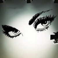 Wholesale Sexy Wall Decals - Sexy Eyes Wall Sticker Home Decor Vinyl Art Home Black Decor Large Wall Decals Wall Stickers