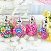 Wholesale Comestic Bottles Wholesales - 5ml Soft pottery Ball Perfume Bottle, 5cc Tassel Perfume Bottles ,Comestic Packaging Containe fast shipping F20171819