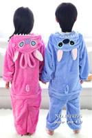 Wholesale Kigurumi For Kids - Wholesale-Kids Children Enfant Winter Animals Onesie Pajamas Flannel Kigurumi Jumpsuit Footed Cosplay Overalls+Shoes For Girls Boys Baby