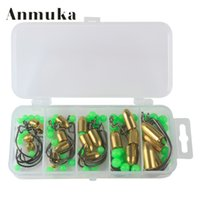 Anfér 95pcs Allarme Pesca di Rock Accessori Lures Crank Hook Bullet Copper Lead Hook Treble Hook Texas Fishing Group