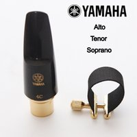Wholesale new alto - Wholesale- Brand New Japan Bakelite Mouthpiece Alto Tenor Soprano Saxophone Professional Mouthpiece Sax Metal Size 4C 5C 6C 7C