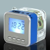 Atacado- Mini NIZHI TT-028 LED Speaker Display USB2.0 FM SD para IPhone IPad Ipod MP3 PC 5 cores