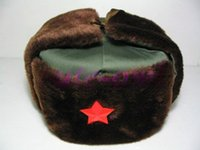 Wholesale Cheap Trapper Hat Fur - Wholesale Chinese Army Soldier Winter Cotton Fur Warm Hat  Cheap Free Shiping 1PCS