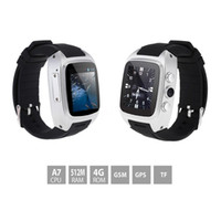 Wholesale Cpu Used - Waterproof 3G Android Smart Watch Phone MTK6572 1.3GHz CPU 512MB   4GB 3.0MP Camera With WIFI GPS