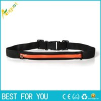 Slim Running Cell Phone Chest Waist Fanny Bag Sports Running Bag 2016 Vente chaude Soft Money Belt Body Wallet