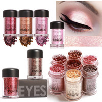Wholesale Loose Mineral Eyeshadow - FOCALLURE 12 Colors Loose Glitter Eyeshadow Powder Cosmetic Makeup Eyes Pigment Powder Mineral Diamond Shimmer Eye Shadow