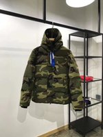 Wholesale Women Down Coats Canada - Men women Parkas WINTER CANADA style Down Parkas WITH HOOD male Snowdome jacket Brand White Duck men's Outerwear & Coats Camouflage lover
