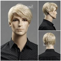 Wholesale Nawomi Wigs - W3560 NAWOMI European American Popular Men Blonde Wig Natural Hair Wigs 11inch 63g Adjustable Cap Size