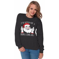 Wholesale Big O Model - 2017 New autumn and winter couple Santa Claus BIG DEAL printing couple models sweater neutral code Christmas jacket free shipping
