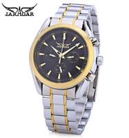 Wholesale Jaragar Water Resistant - New Hot Sales JARAGAR F1205203 Business Men's Auto Mechanical Watch Calendar 24 hours Display Stainless Steel Band Wristwatch