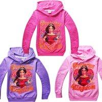 Wholesale Wholesale Girls Hooded Sweatshirts - Elena of Avalor children hoodies baby girl's long sleeve hooded jumpers kids sweatshirts girls spring autumn clothing