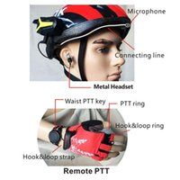 Wholesale Bicycle Bluetooth Helmet Walkie Talkie Way Radio UHF MHZ Headephone channels up to km wireless control version