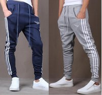 Wholesale Cross Patterned Fleece - 2016 New fashion men's Baggy Sweatpants Hiphop sports pants men's casual pants harem pants Hip Hop Dance Sporty Trousers
