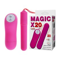 Wholesale Magic Bullet Wireless Sex Toy - Sex Toys For Women Magic 20 Speed Wireless Remote Control Vibrating Love Eggs Silicone Waterproof Powerful Bullet Vibrator-BAILE