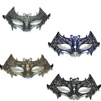 Wholesale Colorful Carnival Masks - Colorful Lace Mask Sexy Women Lady Hollow Out Dance Masks Party Carnival Ball Masquerade Party Supplies ZA4822