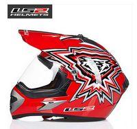 Wholesale Helmet Ls2 Cross - LS2 professional off-road racing motorcycle helmet MX433 Cross country sport utility vehicle motorbike ran helmet made of ABS lens