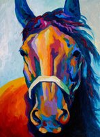 definición sales al por mayor-YOUME ARThorse-uno-de-los-chicos High Definition Artwork Sin enmarcar Wall Art en venta Animal Oil Painting sobre lienzo Design High Quality MRR110