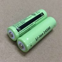 Wholesale Digital Camera Batteries Rechargeable Aa - Factory direct selling 14500 li-ion battery 1500MAH 3.7V LED bright flashlight battery digital camera battery