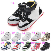 Wholesale Soft Leather Kids Shoes - 2017 Baby kids letter First Walkers Infants soft bottom Anti-skid Shoes Autumn Winter Warm Toddler shoes 11colors choose freely C01
