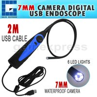 Wholesale VID A USB or Interface Video Inspection Borescope Endoscope mm Flexible Tube with mm Waterproof Camera Head
