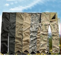 Wholesale shell trousers - Brand New TAD Soft Shell Windbreaker Pants For Outdoor Hunting Camping Army Waterproof Trouser Outerwear Trousers Free Shipping