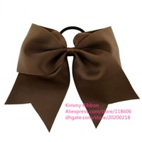 Wholesale Blue Cheer Bows - 100pcs Cheer Dance Hair Bow with Tails