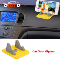 Wholesale Auto Mats Rubber - Yellow Silicon Anti slip mats skid padding navigation bracket car phone holder stand instrument table GPS Car Non Slip mat auto non slip mat