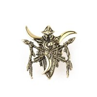 Wholesale Bronze Ball Head Pins - retro Bronze child game Night Elf Brooches Mark badge sign Boomerang lance spear cow head Brooch pins double Cross arrow Corsage thorn xz004