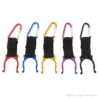 Wholesale climbing water bottle holders resale online - HOT sale Locking Carabiner Clip Water Bottle Buckle Holder Camping Snap Hook clip on Aluminum Alloy Clicp on
