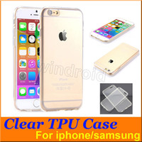 Wholesale Cheapest Iphone 5c Cases - Clear TPU Transparent Soft Case Rubber Cover Silicone Cases for i7 plus iPhone 5S 5C 6 6+ Plus Samsung S6 Edge Free Shipping Cheapest 300