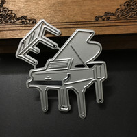 Wholesale Decorative Art Paper Wholesale - New Piano Chair Embossing Metal Cutting Die Stencil for Scrapbooking Craft Album Cards Decorative Paper Art Die Cuts Template