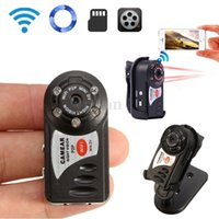 Nuevo Hot Protable Mini WiFi IP Cámara DV Q7 Wireless Webcam DVR Video Videocámara USB Cable