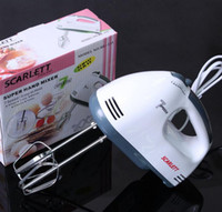 Wholesale Chrome Speed - Handheld Kitchen Electric Mixer Chrome Beaters Blender 7 Speed Stirrer Eggbeater Brand New Good Quality Free Shipping