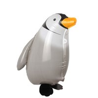 Wholesale Penguin Balloons - Wholesale- Cute Walking Penguin Foil Balloon Birthday Wedding Party Decor Balloon Penguin Modeling Inflatable Air Balloons Kids Toy Gifts