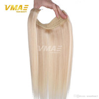 Wholesale Halo Lights - Malaysian Straight Flip In Colors extensions Hair 12 - 30 Inch 1Pcs Set 120g 140g 160g Halo Non-remy Lady Human Hair Extensions