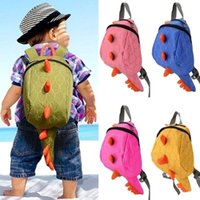 New Cartoon Personality Kawaii Monster Canvas Backpack Pequenos Dinossauros Snacks Moda Toy Kids Mochila para Crianças