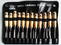 ingrosso strumenti hobby-12Pcs Set di strumenti per scalpelli a mano per intaglio del legno professionale per carpenteria in legno Hobby