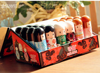 Wholesale Doll Balm - Lip Balm Cute Japanese doll lip balm moisturizing Pure natural plant Comfortable Fresh Fruit Favor Lipstick Lipsticks Lip Gloss 24pcs lot