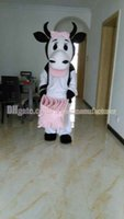 Wholesale Mascot Costumes Patterns - Black and white pattern Cow mascot costume, high quality plush mascot costume free shipping Cow, Cow mascot adult type of discount.