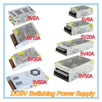 Wholesale Transformer 5v 2a - 2A 4A 5A 6A 8A 10A 5V Switching Power Supply DC5V Single Output Driver Transformers for LED Strips Input AC110V AC220V