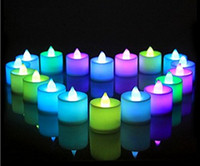 Wholesale Color Changing Led Christmas Candles - Wedding Birthday Party Christmas Decoration Led Flameless Color Changing Tealight Candles Battery LED Candle EWIN24 HOT SALE