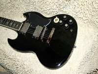 Wholesale Electric Guitars Young - Custom Angus Young AC DC Limited Edition Ebony Electric Guitar Rare guitars from china